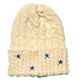 San Diego Hat Co Women's Cable Knit Beanie with Star Embroidery