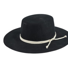 San Diego Hat Co Women's Wool Wide Brim Boater With Triple Wrap Rope Trim