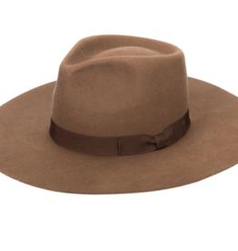 San Diego Hat Co Wool Felt Stiff Brim Fedora with Bow Trim