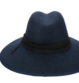 San Diego Hat Co Women's Fedora With Double Layer Side Knot Band