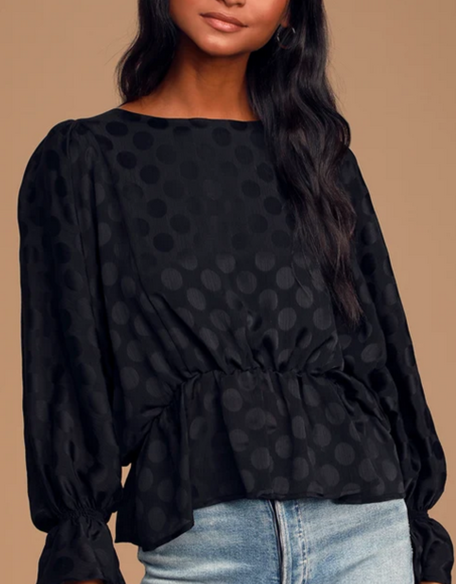 BB Dakota Dot A Dream Ruffle Top