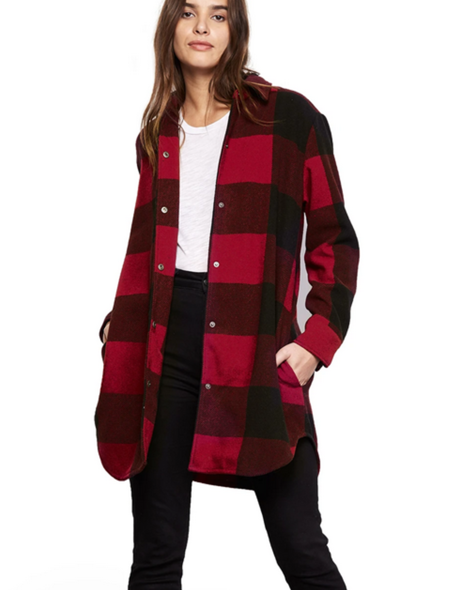 BB Dakota Eldridge Plaid Coat