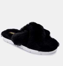 Dolce Vita Dolce Vita - Pillar Black Faux Fur Slippers