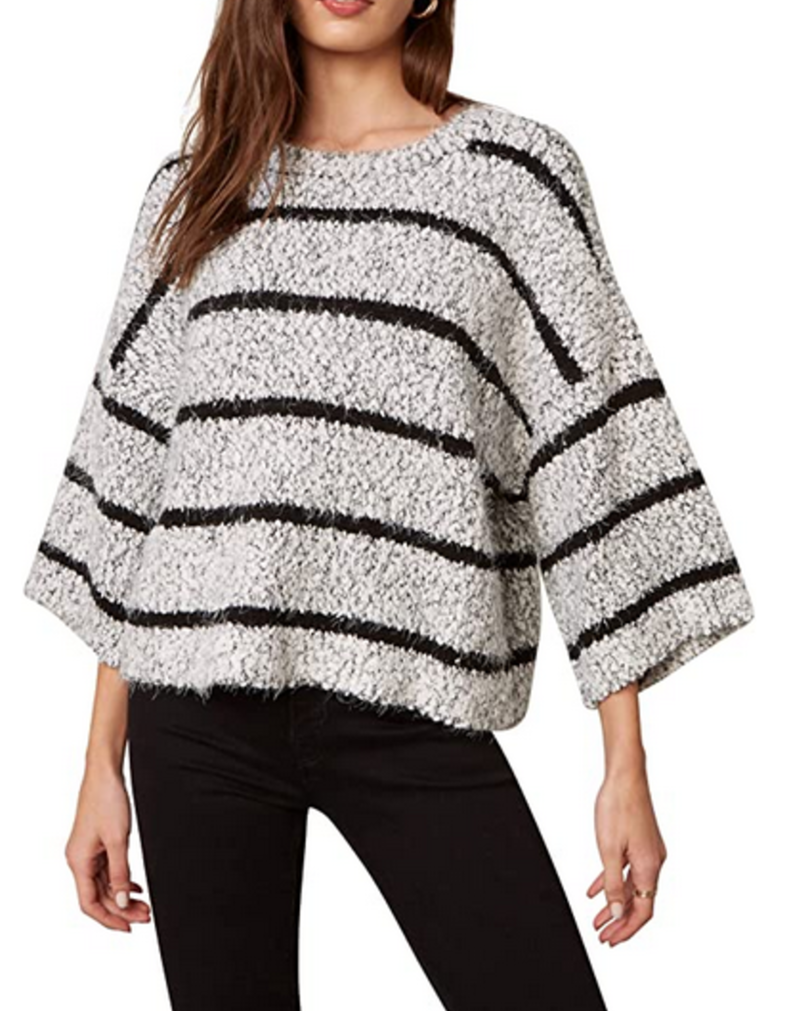 BB Dakota Good Vibes Only Ivory Sweater