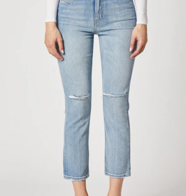 Hudson Holly High Rise Crop Straight Jeans