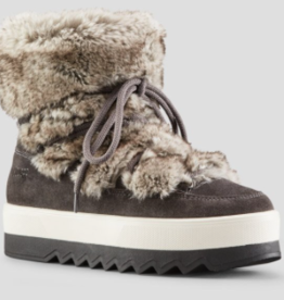 Cougar Shoes Suede-Faux Fur Vanity Boot