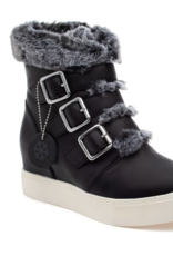 J/Slides Spat Boot - Black Leather