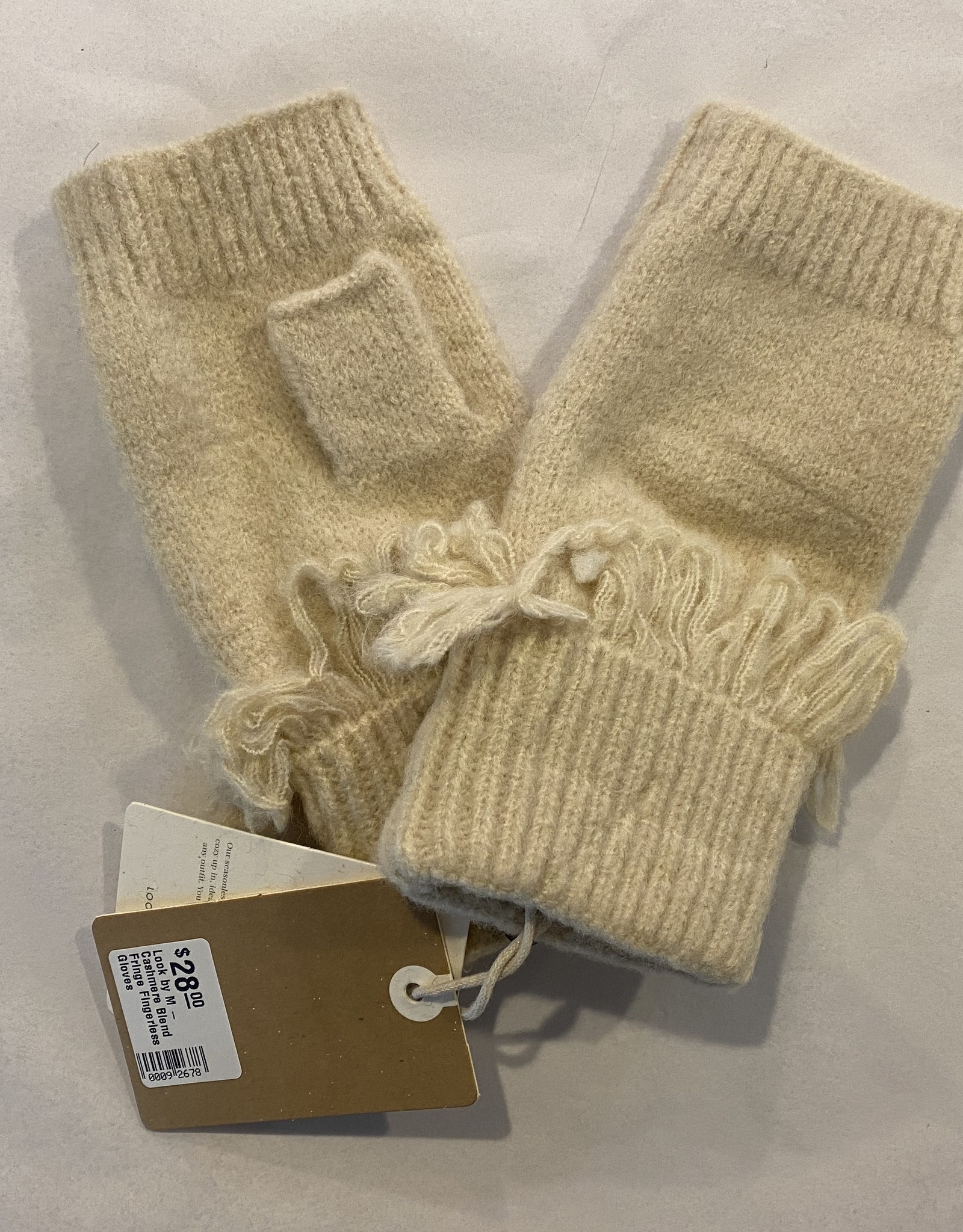 Look By M Look by M - Cashmere Blend Fringe Fingerless Gloves
