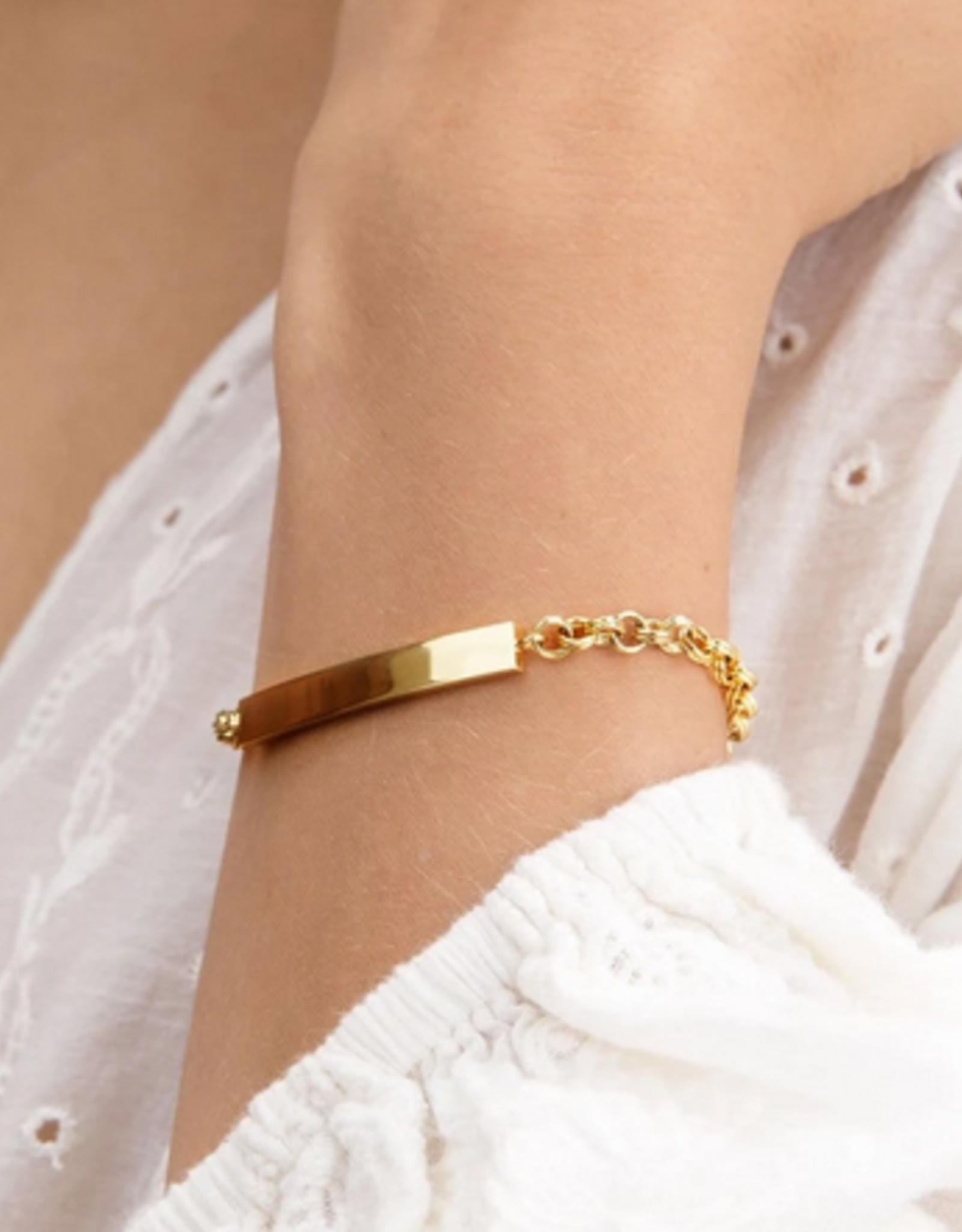Gorjana  Lou Tag Bracelet