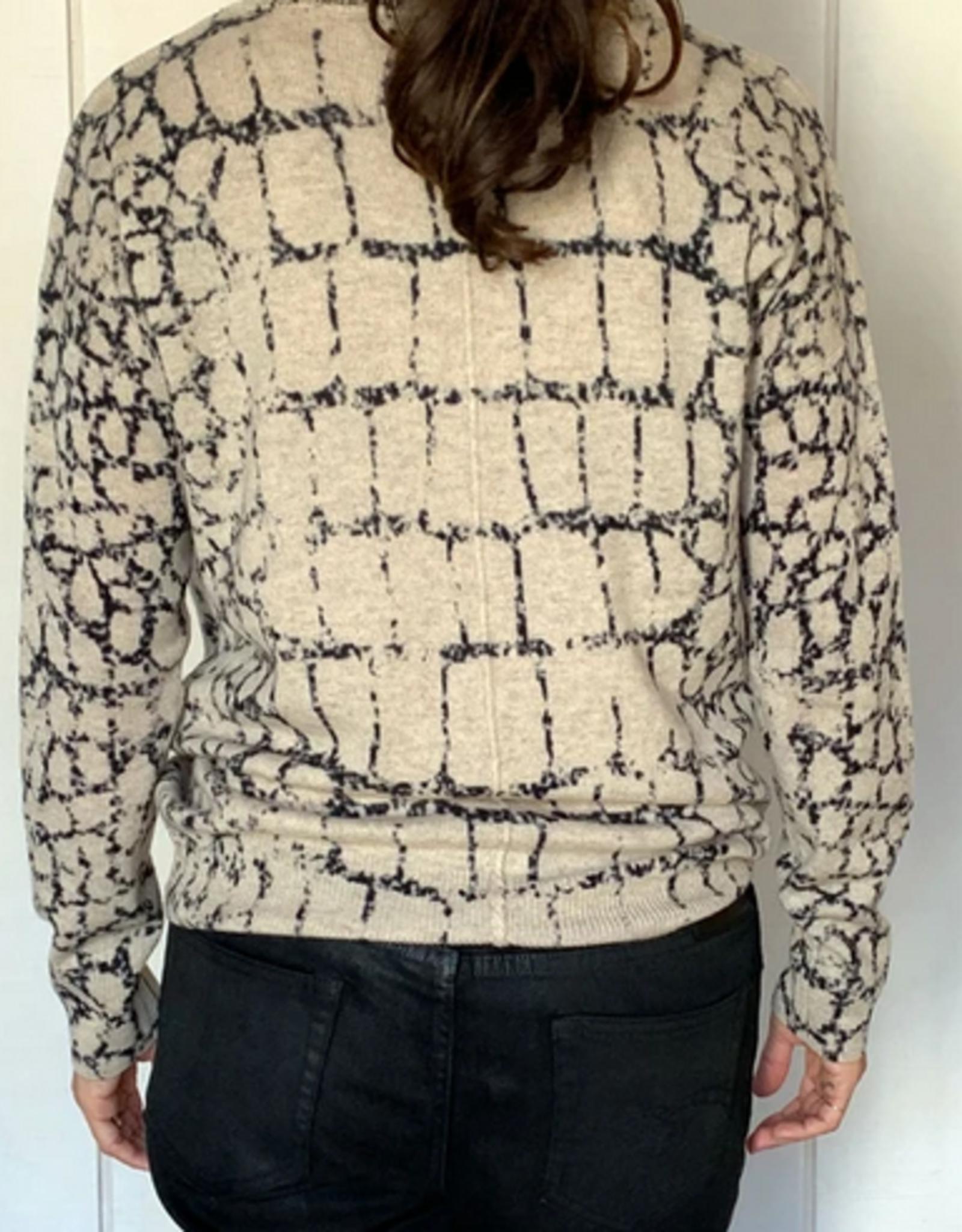 LABEL+thread Luxe Croc Vee Sweater