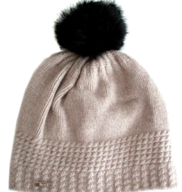 Frost Cashmere Hat With Rabbit Pom