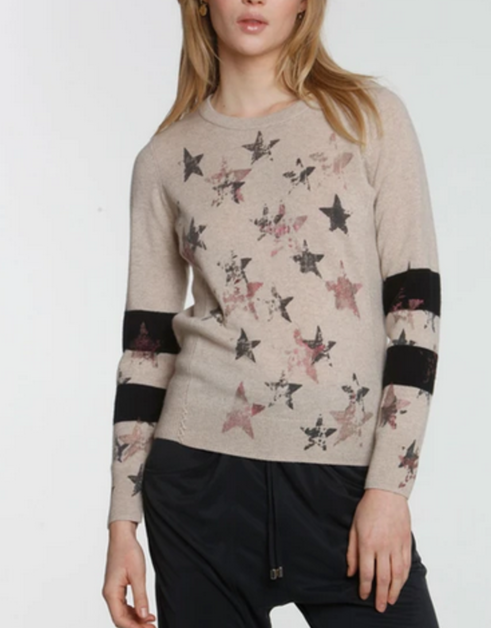 LABEL+thread Faded Star Crew Sweater