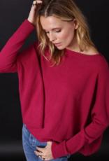 Minnie Rose 100% Cashmere Cropped Boyfriend Sweater