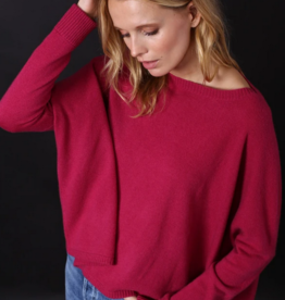 Minnie Rose 100% Cashmere Cropped Boyfriend Sweater