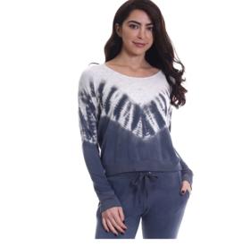 SUNDoWN by River + Sky Tie Dye Girl Talk Sweatshirt
