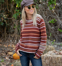 Wooden Ships Prue Stripe Crew Sweater