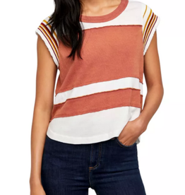 Free People Hint of Stripe Tee