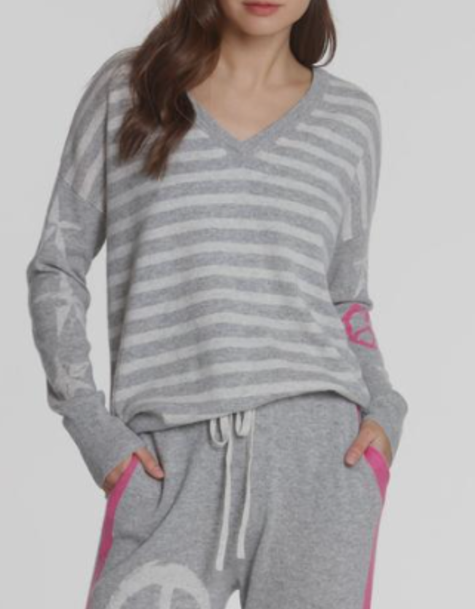 LABEL+thread Prep Star Vee Sweater