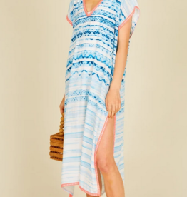 Surf Gypsy Tribal Watercolor Print Duster Coverup