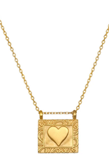 """SATYA Jewelry Heart Centered Necklace 18"""""""
