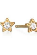 SATYA Jewelry SATYA Jewelry - Luminous Starlight Gold Star Stud Earring