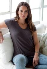 Erin Gray Short Sleeve Messy V Tee
