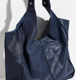 Free People French Blue Tuscan Leather Tote