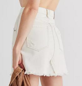 Free People Brea cut off skirt