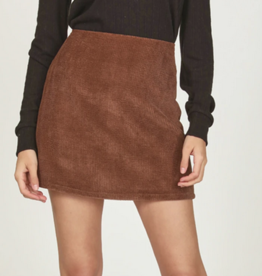 Vintage Havana A-Line Cord Skirt