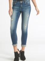 Joyrich Skinny, Mid-rise, Ankle, Cuff Hem Jeans; Core Style