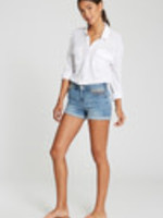 Ava Short, High-Rise, Rolled Shorts, Serape Detail Frt Pockets