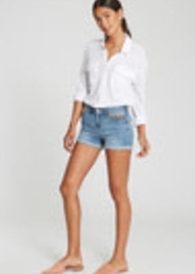 Ava Short, High-Rise, Rolled Shorts, Serape Detail Frt Pockets