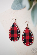 Love is All Around Tear Drop Earrings w/ AB Crystals