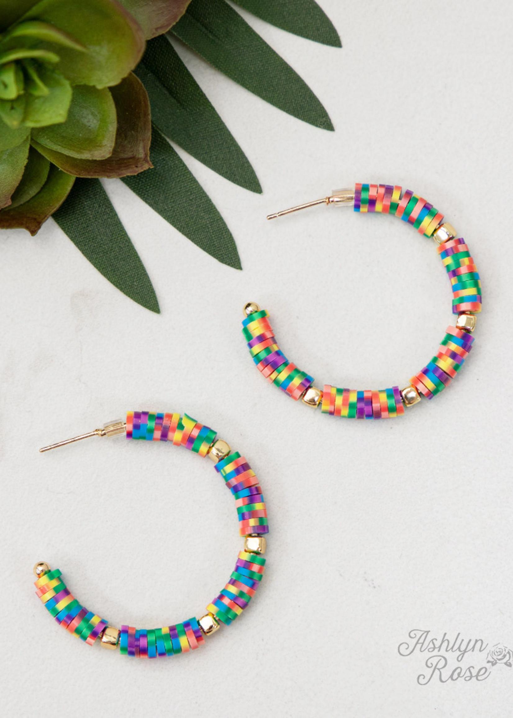 All Summer Long Beaded Hoop Earrings