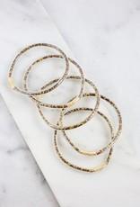 Set of Five Glitter Bracelets