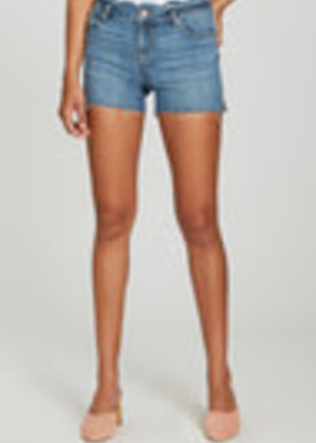 Gigi Short High, Scalloped Waistband, Cut Off Hem