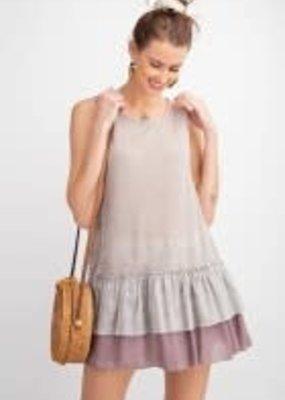 Sleeveless Light Sheer Ruffled-Bottom Shirt