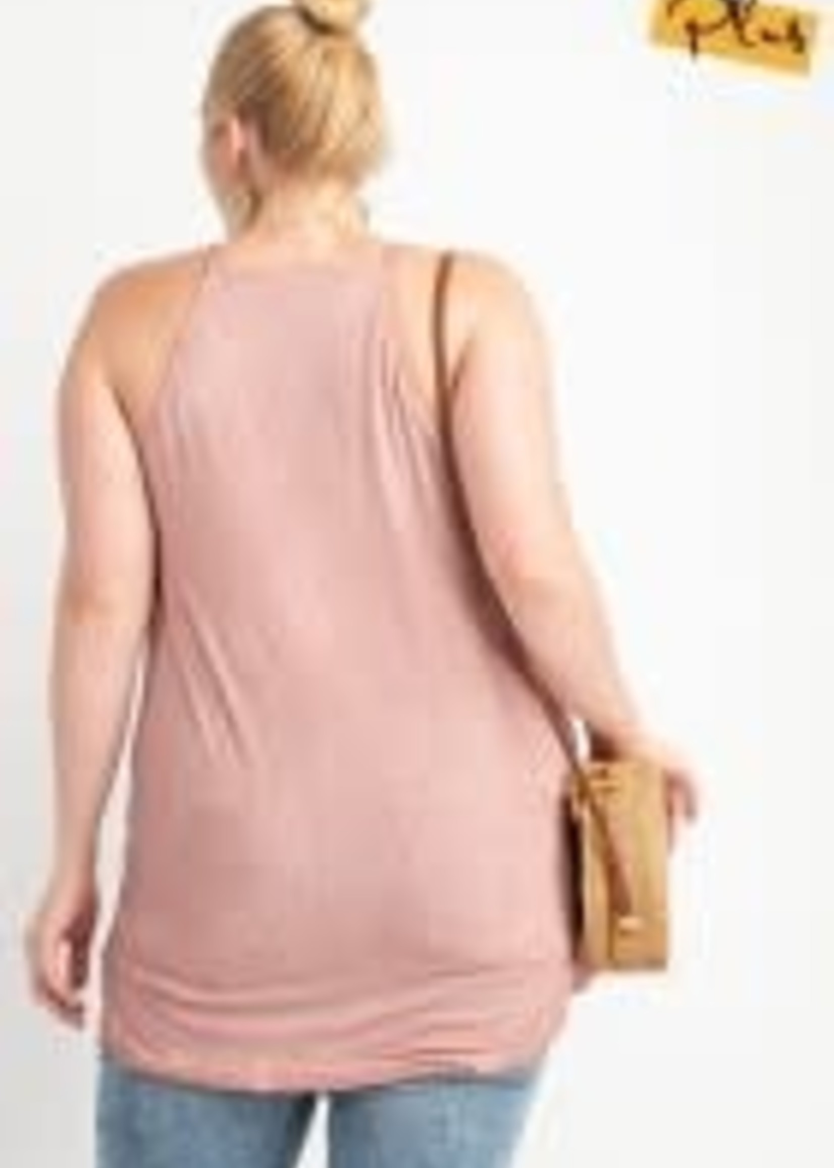 Laced Up Front Cami Tank Tunic