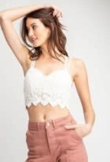 Crochet Laced Bralette Top