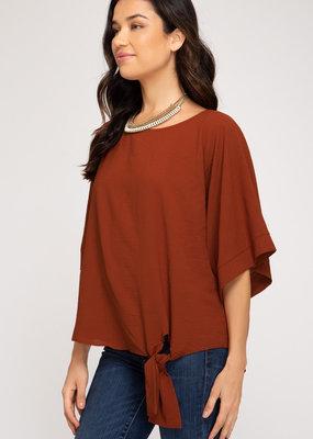 Solid Shirt w/ Kimono Sleeves