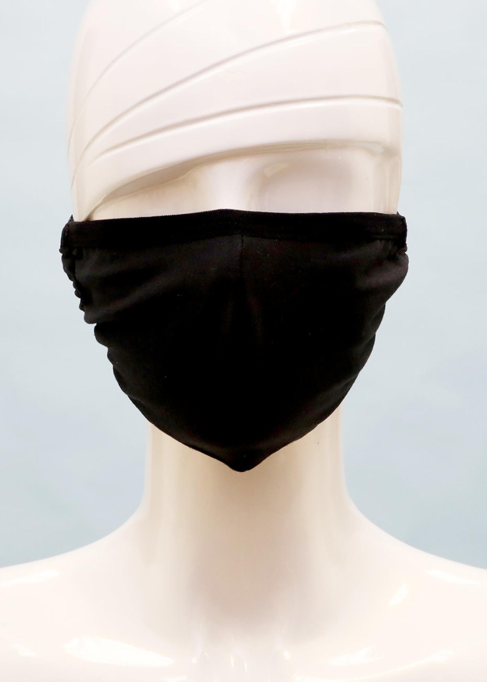 Face Mask (Black)-Cotton w/ Interior Pocket; Adjustable Ear Piece