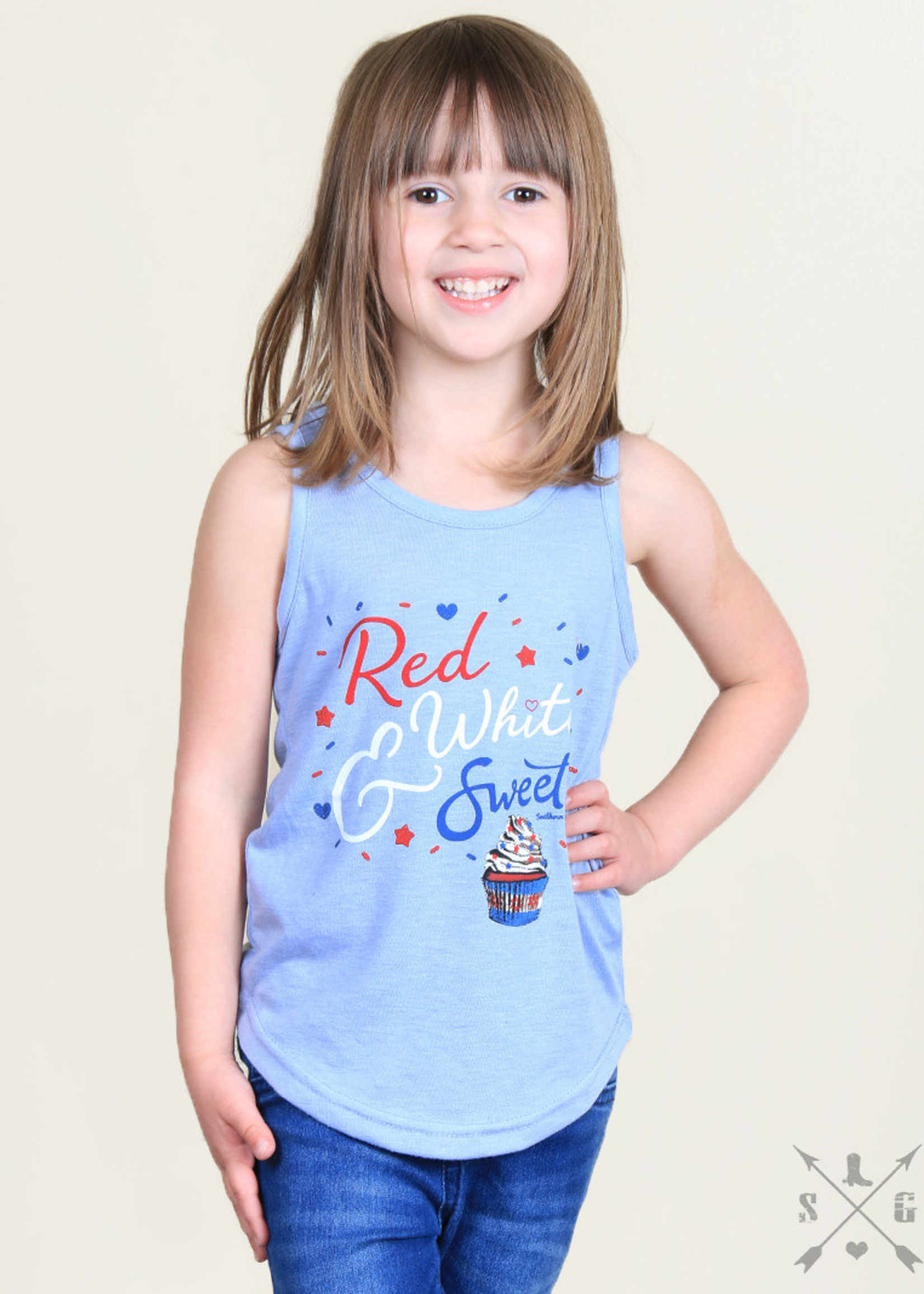 Red, White, and Sweet Tank; Girls