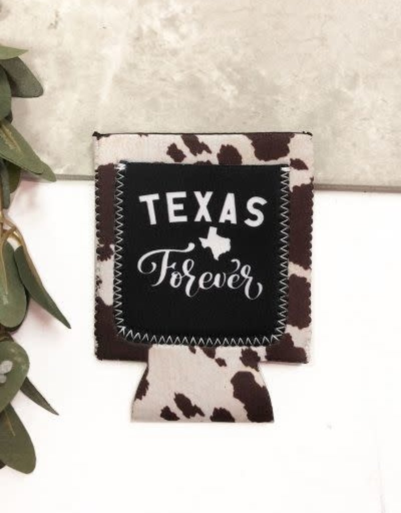 Texas Forever w/ Cowhide Cooler