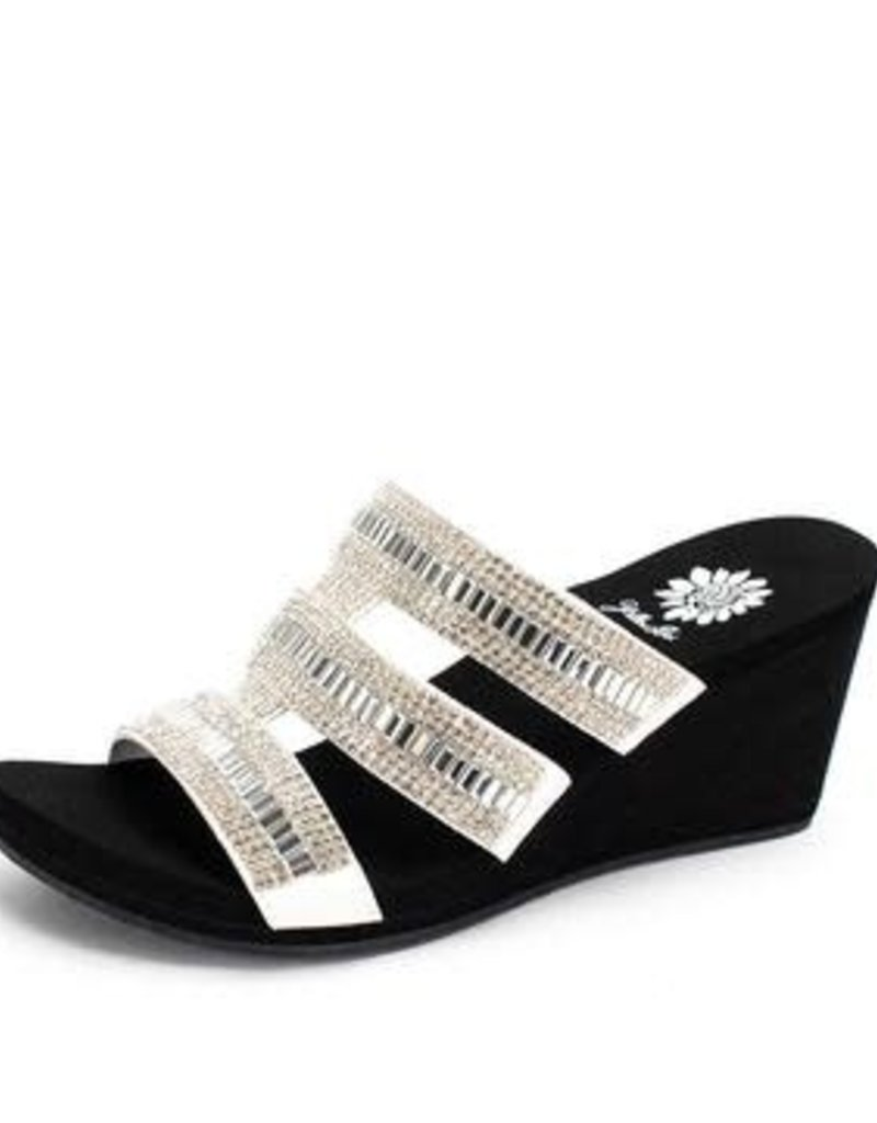 Segrid Bling Wedge Sandals