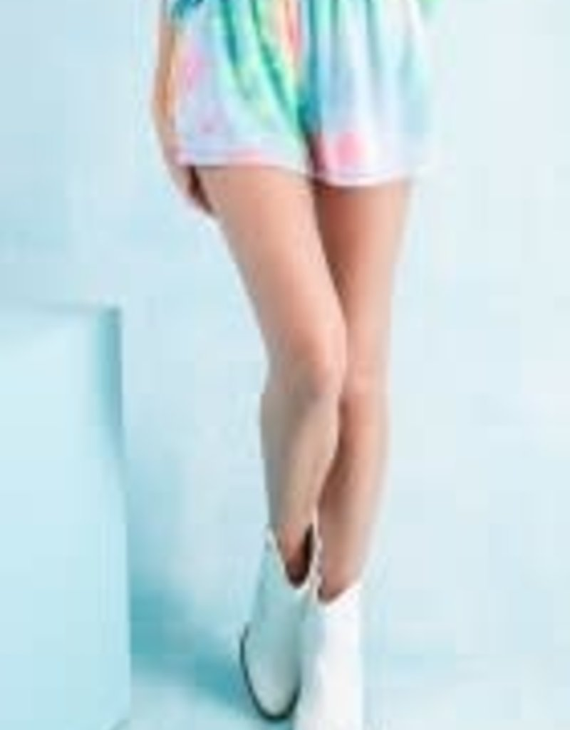 Tie Dye Shorts; Terry Knit Casual
