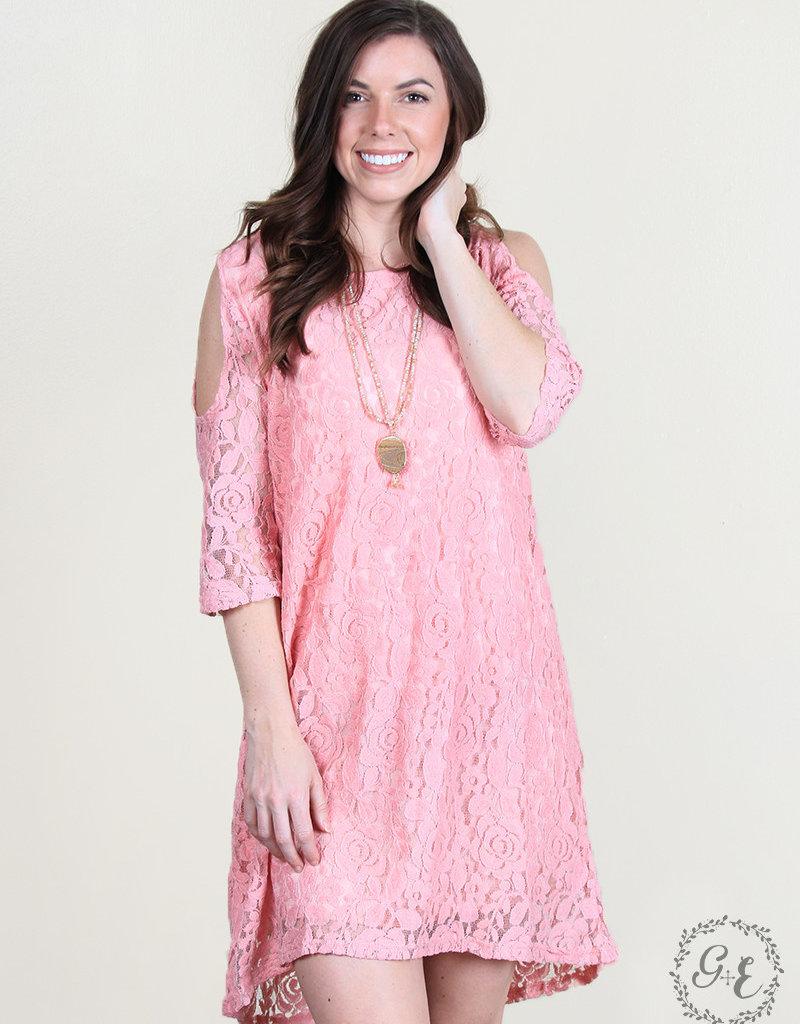 Favorite Fancy Cold-Shoulder Lace Dress
