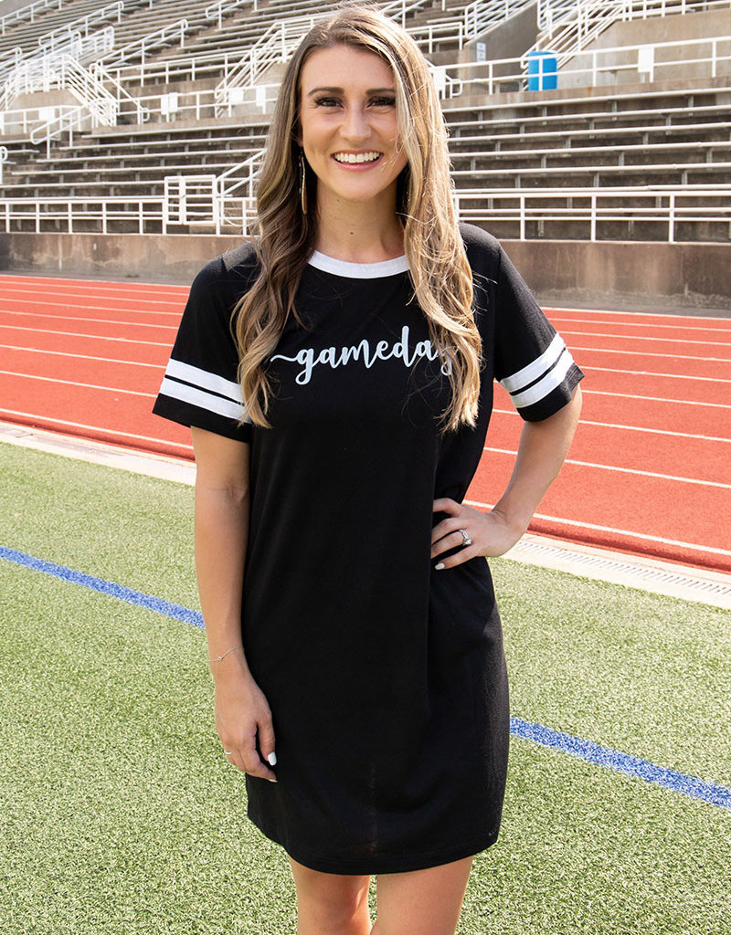 Gameday Team Spirit Tee Shirt Dress