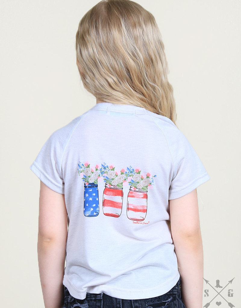 Sweet Tea Party Tee; Girls
