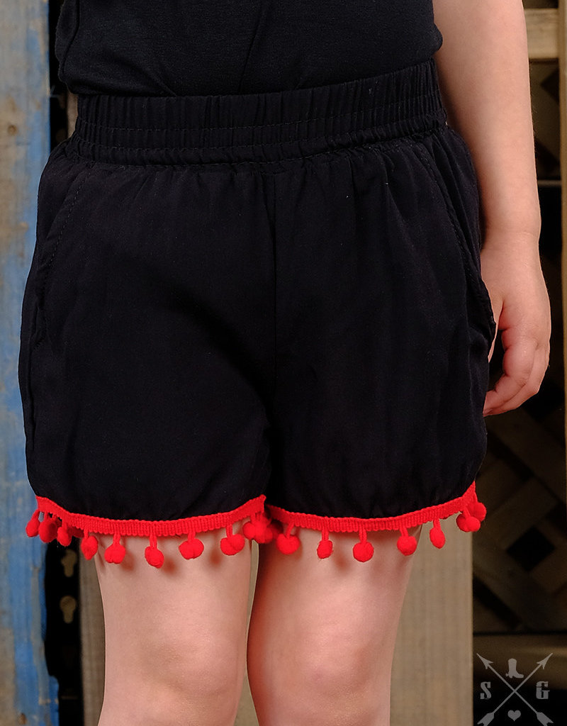 Shorts w/ Pom Trim; Girls
