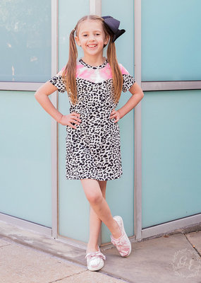 Dalmatian Tee Dress w/ Pockets & Tie Dye; Girls